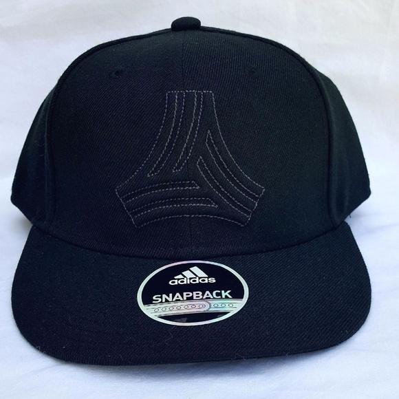 8aad5d0d09d7a Adidas Black snapback tango hat NEW